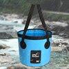12L 20L 500D Portable Folding Bucket Fishing Bag Camping Car Wash Barrel Water Fish Bucket with Handles