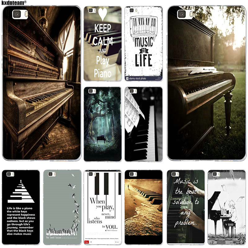 Silicone Soft Cover Phone Cases for Huawei P8 P9 P10 P20 Mate 10 Pro Y5 Y6 II Y7 Honor 6X 7X 9 Lite Music Software Piano Plug image