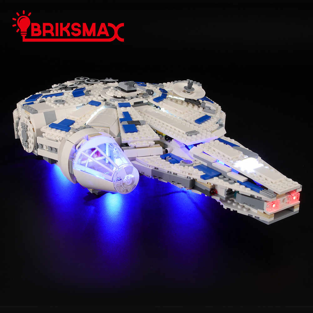 BriksMax Light Kit For Star Wars Story Kessel Run Millennium Falcon Building Blocks Lighting Set Compatible With 75212