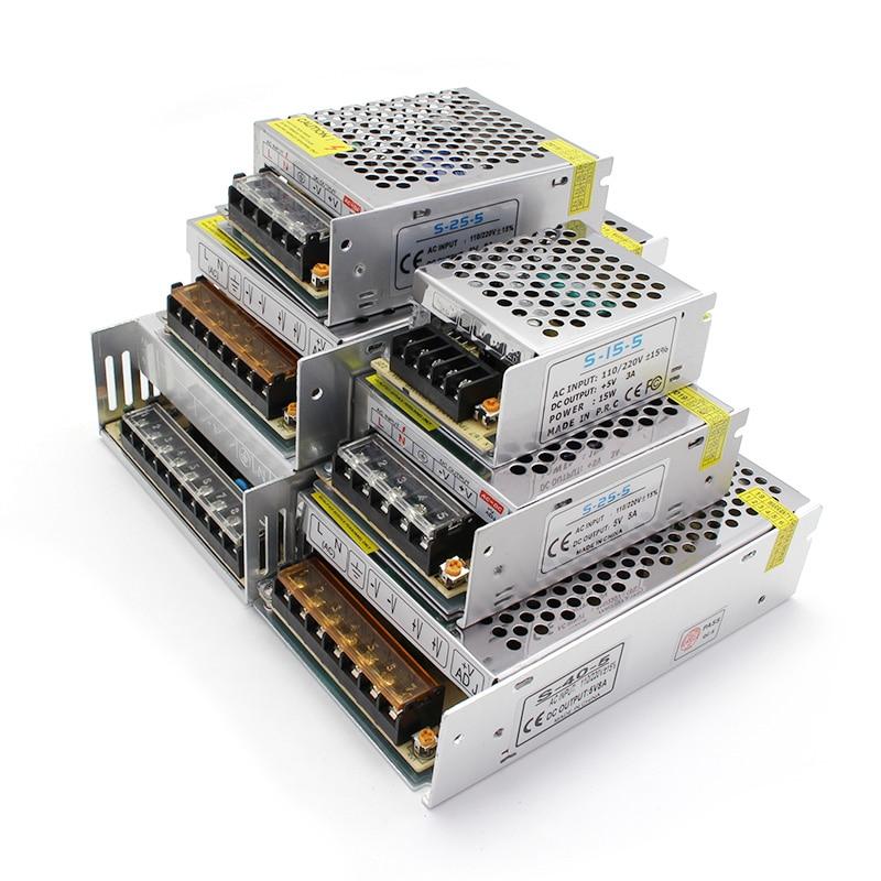 Fuente de alimentación de 5V/12V/24 V CC CA, 3V, 9V, 15V, 18V, 36V, 48V, transformador de 220V a 12V, alimentación de 5V, 24 V, de 5V fuente de alimentación, 12V, 24 V|Transformadores de iluminación| - AliExpress