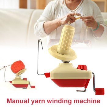 Bobinadora de hilo cuerda de bola de fibra a mano suéter de lana hilo de aleación de plástico herramienta portátil DIY
