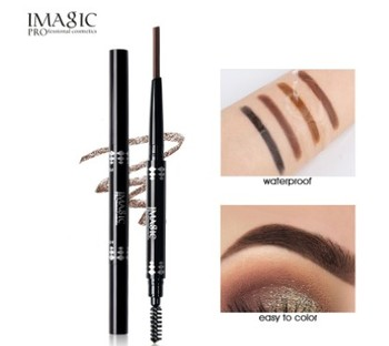 IMAGIC professional waterproof eyebrow pencil with brush double head rotating automatic triangle eyebrow pencil professional thr