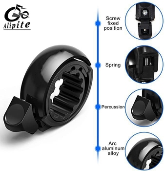 1 Pc Sport Bike Mountain Road Cycling Bell Ring Metal Horn Safety Warning Alarm Bicycle Outdoor Protective Cycle Accessories bicycle bike handlebar ball air horn trumpet ring bell loudspeaker noise maker free shipping