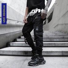 UNCLEDONJM Side Pocket Cargo Harem Pants Mens Casual Jogger Streetwear Hip Hop Streetwear Trousers Male Cargo Pants K810 стоимость