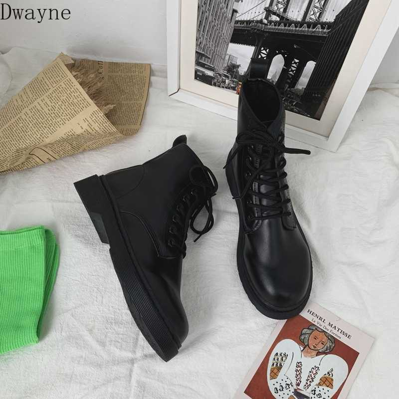 2019 autumn and winter Martin boots female students black short boots British fan boots wild retro tide