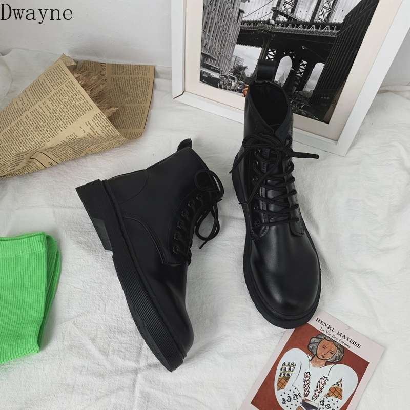 2019 Autumn And Winter Martin Boots Female Students Black Short Boots British Fan Boots Wild Retro Tide