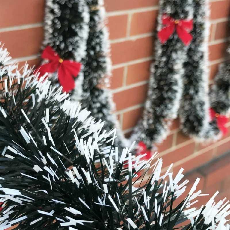 9 colori Pop 2M Vigilia Di Natale Decorazione Bar Magliette e camicette Del Nastro Ghirlanda di Albero Di Natale Cucina Ornamenti regalo di Nozze Decorazione Del Partito Prop