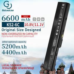 4400 мАч ноутбука Батарея для Asus A32-K52 A31-K52 k52 X52F X52J X52JB X52JC X52JE X52JG X52JK X52JR X52Jt X52JU X52JV k52j X52SG
