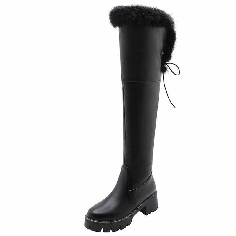 FEDONAS Yeni Seksi parti ayakkabıları Kadın Kar Botları 2020 Kış sıcak Kadınlar Diz Üzerinde Yüksek Çizmeler binici çizmeleri Motosiklet Botları