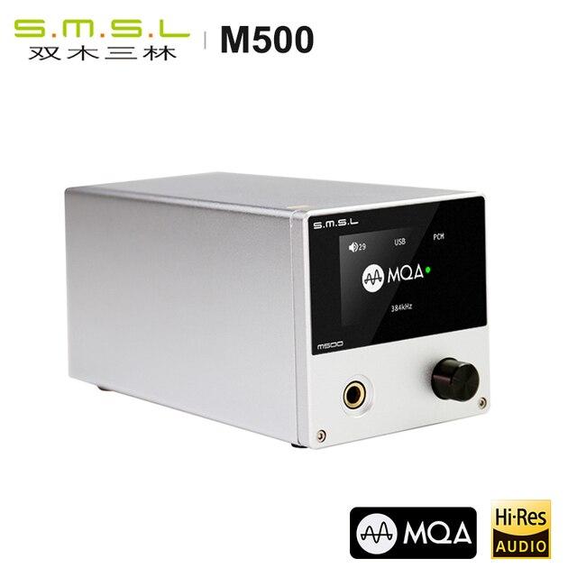 SMSL M500 MQA dac Headphone Amplifier ES9038 PRO AUDIO Decoding USB DAC XMOS XU216 DSD512 32Bit / 768Khz USB/OPT/COAX input