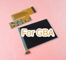10 مستويات عالية السطوع IPS الخلفية الخلفية شاشة LCD ل نينتندو GBA وحدة التحكم استبدال شاشة الخلفية