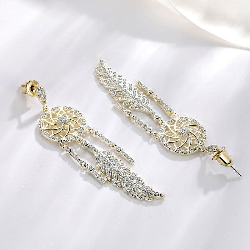 100% réel 925 argent boucle d'oreille pour les femmes plume fête mariage Bizuteria solide 925 argent bijoux pierre gemme grenat boucle d'oreille pour fille