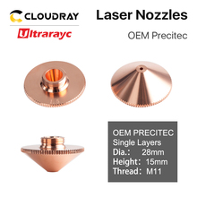 Ultrarayc Precitec WSX Cutting Head Laser Nozzle Single Double Chrome-plated Layers D28 Caliber 0.8-6.0mm