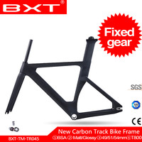 BXT Full Carbon Track Frame Fixed Gear Frame Fork BSA Road Track 700c Fixed frame single speed Track Bicycle Parts Frameset