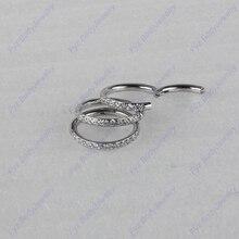 Piercing de acero inoxidable para tabique nasal, Piercing de cartílago de oreja helicoidal, 316L, 16g