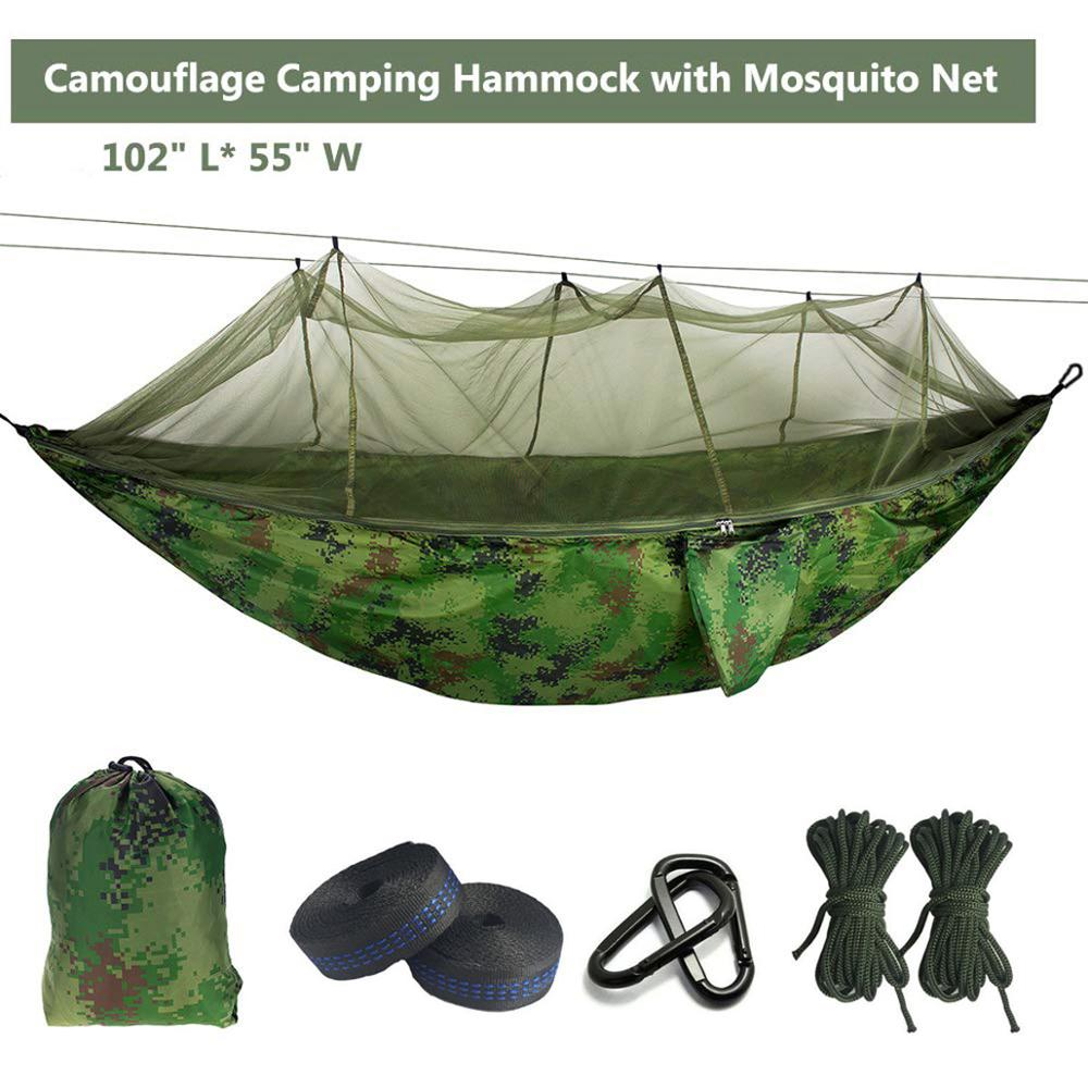 Ultralight Mosquito net Parachute Hammock with Anti-mosquito bites for Outdoor Camping Tent Using sleeping Free shipping(China)