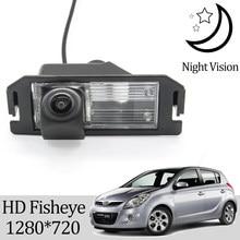 Owtosin hd 1280*720 fisheye câmera de visão traseira para hyundai hb20 hb20x 2012-2018 carro reverso estacionamento acessórios