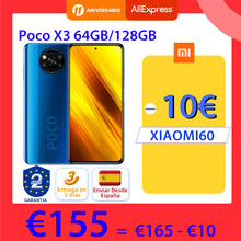 Versión Global POCO X3 NFC 64GB 128GB ROM 6GB Smartphone Snapdragon 732G 64MP Quad Cámara 6,67