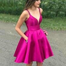 Smileven ярко розовые короткие платья для встречи выпускников