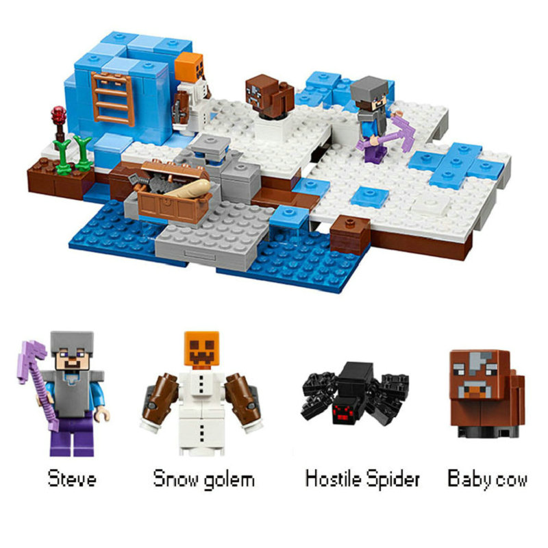The Ice Spilkes Building Blocks With Steve Action Figures Compatible LegoINGlys MinecraftINGlys Sets Toys For Children 21131 12