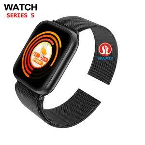 Image 3 - Часы 5 Bluetooth Смарт часы 44 мм Смарт часы для Apple Watch iOS iphone Android телефон пульсометр фитнес трекер PK IWO 12 Pro