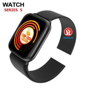 Image 3 - שעון 5 Bluetooth חכם שעון 44mm SmartWatch עבור אפל שעון iOS iphone אנדרואיד טלפון קצב לב כושר Tracker PK IWO 12 פרו