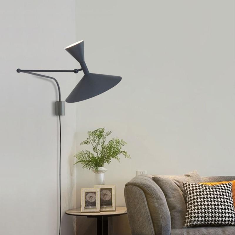 Современная настенная лампа с регулируемым выключателем, прикроватный светодиодный светильник ильник для чтения для спальни, гостиной, ре...