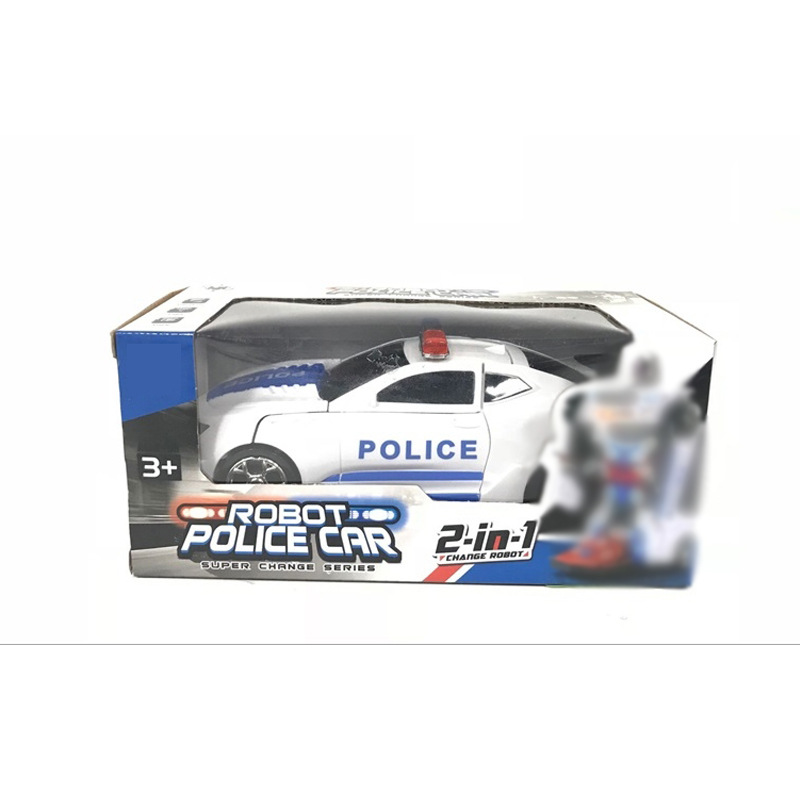 Transformation Electric Universal Car Universal Police Car Toy Model Music Flash Car Model Stall Toy