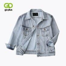 GOPLUS 2019 Spring Autumn Women Vintage Jacket Denim Plus Size Coats And Jackets Female Womans Streetwear Oversize