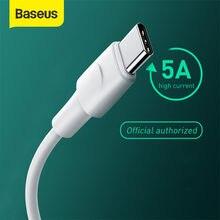 Baseus usb tipo c cabo para oppo vooc oneplus 7t 7 pro warp 5a carregador rápido cabo usbc tipo-c cabo de carregamento USB-C cabo de fio de dados