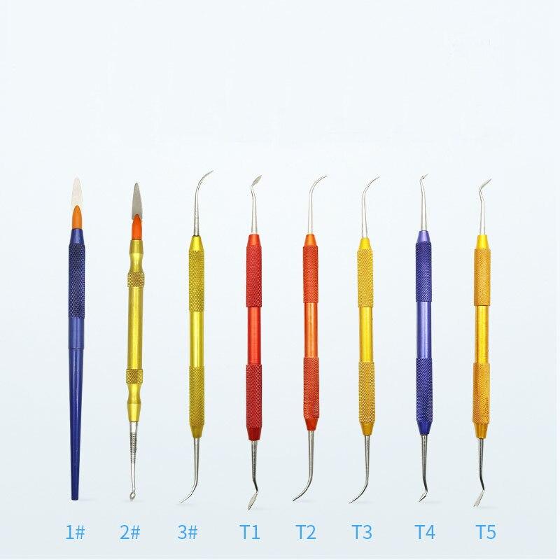 Dental Lab Instrument Wax Carving Tool Plastic wax Knife kit for Dental Equipment