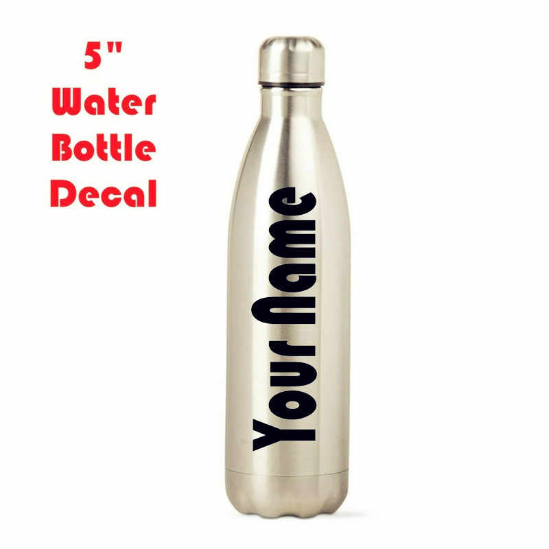 5 Personalized Water Bottle Name Decal