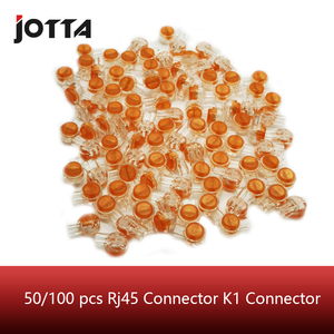 50/100 pcs Rj45 Connector Crimp Connection Terminals K1 Connector Waterproof Wiring Ethernet Cable Telephone Cord Term