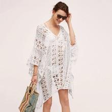 Kaftan Beach Pareo Beachwear Swim suit Cover up Playa Tunics for Tunic Swimwear Women Lace Dress