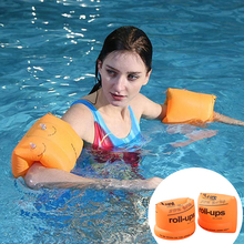 1 Pair Inflatable Swim Arm Bands Flotation Sleeves Swimming Rings Floats Tube Armlets For Adult Bands PVC Floatation Sleeves