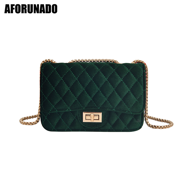 New Luxury Handbags Women Bags Designer Velvet Chain Messenger Shoulder Bags Small Evening Clutch Crossbody Bags For Women 2019|Shoulder Bags| - AliExpress