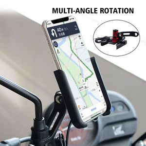 Image 4 - OOTDTY Metal Motorcycle Motorbike Mount Mobile Phone Holder Bracket With USB Charger Stand Car Phone Holder Mobile Support