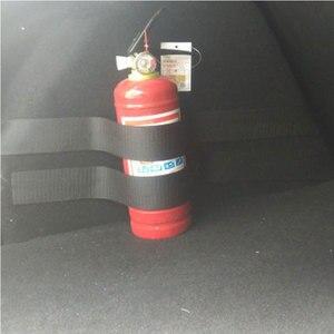Image 3 - 4 pçs/set Saco De Armazenamento Organizador Mala Do Carro Extintor de Incêndio Montagem Cintas Fitas de Fixação Suporte Adesivos Tiras Bandagem