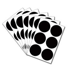 Мини-Классная доска, водонепроницаемая наклейка, этикетка, круглая, 30 мм, меловая доска, точечная клейкая этикетка, декоративная бумага для заметок, 72 шт
