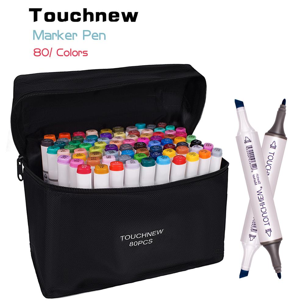 TOUCHNEW 30/40/48/60/80/168 Colors Art Markers Graphic Drawing Painting Alcohol Art Dual Tip Sketch Pen Twin Marker Design Pen