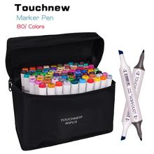 TOUCHNEW 30/40/48/60/80/168 kolory Art markery rysunek graficzny malarstwo alkohol Art podwójna końcówka pisak do szkicowania Twin Marker Design Pen