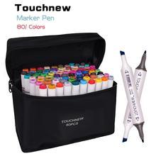 Touchnew 30/40/48/60/80/168 cores marcadores de arte gráfico desenho pintura álcool arte dupla ponta esboço caneta marcador gêmeo design caneta