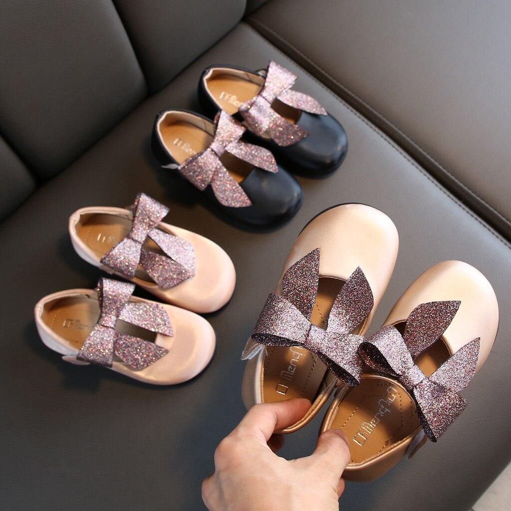 בנות נסיכת נעלי תינוקות פעוט ילדי תינוק Bowknot אחת סנדלי נעלי ילדים של חליפה באיכות גבוהה