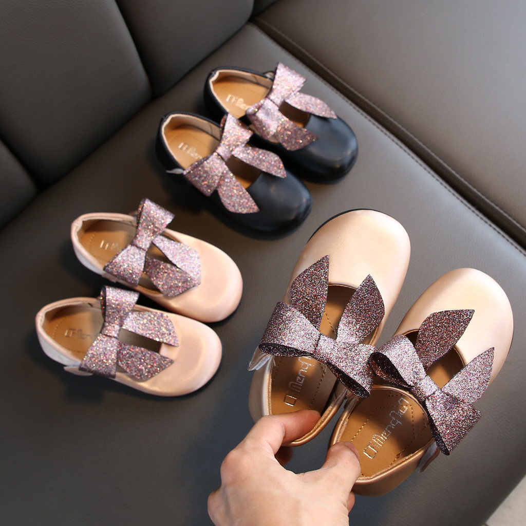 Girls' Princess Shoes Toddler Infant Kids Baby Bowknot Single Sandals Shoes  Children's Suit High Quality