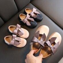 Girls' Princess Shoes Toddler Infant Kids Baby Bowknot Singl