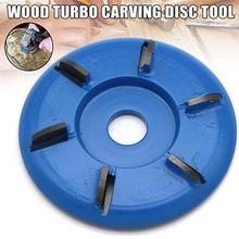 Four/Six Tooth Red/Blue Power Wood Carving Disc Tool Milling Cutter For 16mm Aperture Angle Grinder Diameter 90mm Polishing