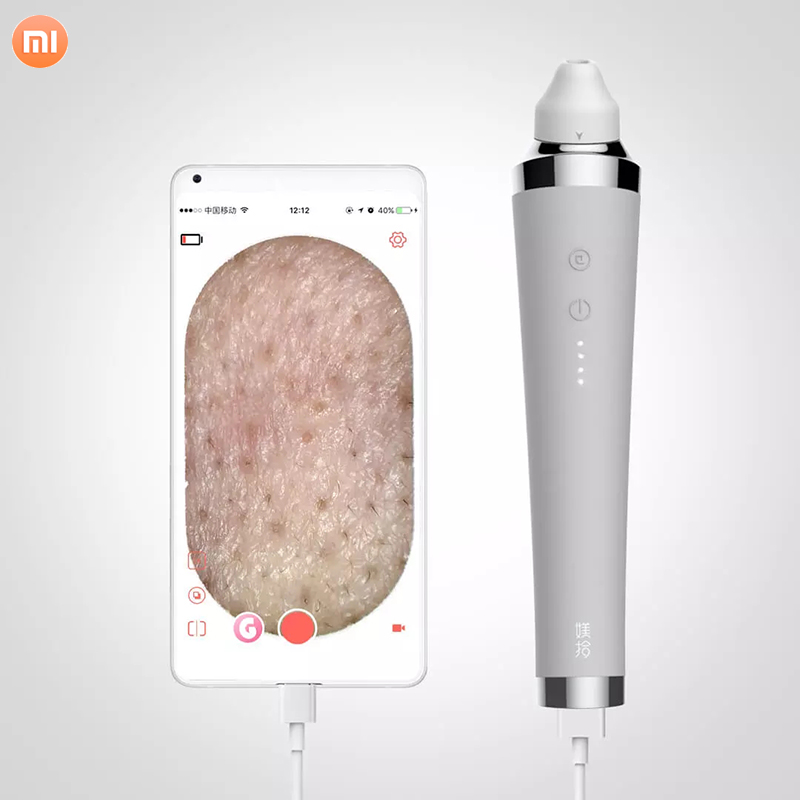 Xiaomi Visual Electric Blackhead Remover Vacuum Suction Dermabrasion Acne Pore Peeling Face Clean Facial Skin Care Beauty Tools