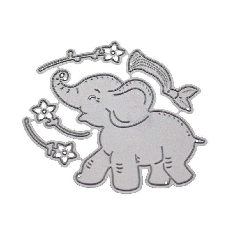 1pc cute animals elephants scrapbooking Carbon Metal steel Stencil cutting die/'/'