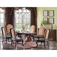 Натуральный деревянистый обеденный стол Стул и сервант Стул и буфет из массива дерева кресло Giovanni для et шведского стола de стол-де-зале в яслях GF61