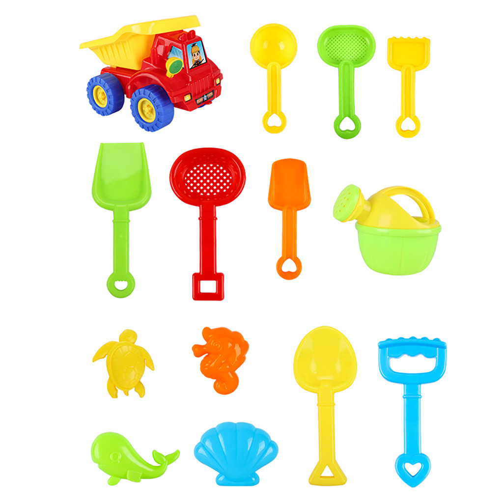20pcs Beach Tools Set Sand Playing Toys Kids Fun Water Beach Seaside Tools Gift Funny Kids Beac Toys Colorful Accessories